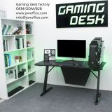 Gaming desk pc computer rgb lights Z-SHAPED chinese factory www.jonoffice.com