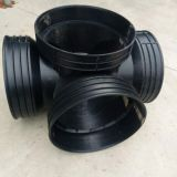 Black High Density Polyethylene Plastic Inspection Shaft