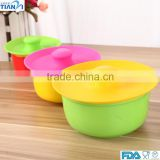 3PCS Food Grade Silicone Bowl Cover Fresh Cover For Fruit Bowl Silicone Bowl Cover/Bowl Lid