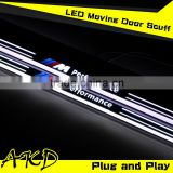AKD Car Styling for BMW X5 LED Moving Door E70 LED Door Sill plate 2007-2015 Side Step Cover Pedal