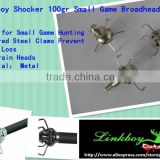 Archery hunting broadheads arrowheds Linkboy Shocker 100gr Small Game Broadhead