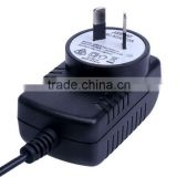 18W 9V 2a Black plastic case for LED light with UL CE GS SAA C-Tick RoHS and MEPS switching power supply