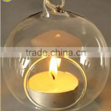 clear hanging glass candle holder for wedding decoration