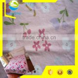 Polyester dty yarn warp knitting fabric, flower print fabric for bed-sheeting