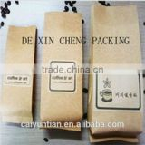 beautiful stand up kraft paper bag for snacks/high quality printed kraft bag for food with zipper