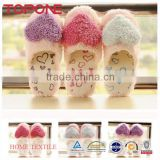 Winter and autumn lovely cute big hearts cotton products indoor fancy slippers for girls