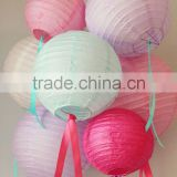Pretty in pink round Paper Lantern for baby shower girl party nursery decoration                                                                         Quality Choice