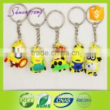 Wholeale factory price OEM design pvc rubber keychain