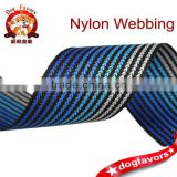 3.0cm blue Gradient plain and eco-friendly polyester webbing
