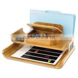 Office File Holder Bamboo wooden tray