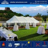Durable and long life span 650g/sqm PVC coated fabric side wall cover canvas tent safari nedieval stretch star tents