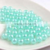 Lake Green Color New 2016 6MM to 20MM Stock Round Acrylic Jelly AB Beads for Chunky Necklace Wholesales Jewelry Paypal accept