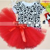 2015Hot Sale Baby chevron Girl's T-shirt and Ruffles Tutu set babyDress baby clothesSK-11 Image