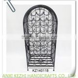KZ140118 Wholesale display wrought iron red wine bottle rack                                                                         Quality Choice
