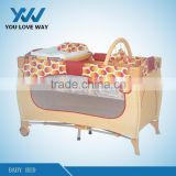 High qualit baby wooden swing bed