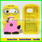 Minion silicone mobile 3d phone case for samsung galaxy j7 j7008 cell phone cover case back cover