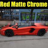 High Quality Pearl red car film,Matte Chrome Vinyl Car Sticker ,Luxury new chrome wrapping film 6 Colors 1.52m*20m