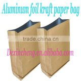 Aluminum foil Kraft Paper Side Gusset Tea Packaging Bag( recycled laminated craft paper bag)