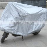 190T polyester taffeta PU coated motorbike cover silver color