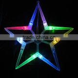 Outdoor christmas star string lights,led falling star lights,star shaped pendant lighting