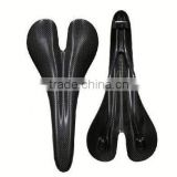 Weight light new product 2014 hot road bicycle or mountain bike carbon fiber saddle leather saddle