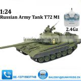 1:24 RC Russian T72 Tank 2.4G T72 Tank with shooting BB