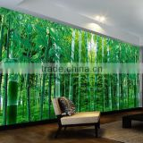 self adhesive decoration bamboo wall sticker printed type for sale