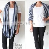wholesale popular cotton jersey knitted scarf