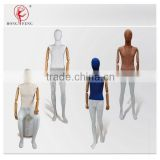 2015 hongfeng mashup fabric dress mannequins with wooden arms