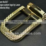 high quality classic belt buckle with gold plating