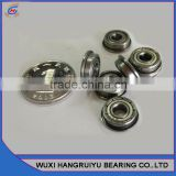 7 * 17 * 5 mm bore sizes mini flanging ball bearing MC4 clearance F697ZZ for industry machines
