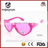heart shape 2015 fashion kid children polarized sunglasses colored eye glasses wholesale china