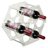 Factory direct selling acrylic wine bottle display / acrylic wine bottle glass holder racks                                                                                                         Supplier's Choice