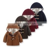 new arrivals boy school style thick jackets with fleece for winter,woolen coat