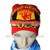 Hot sale good quality acrylic knitted viking hat