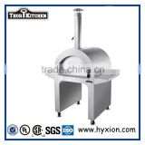 Outdoor wood fired pizza oven charcoal bbq smoker