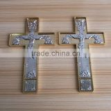 religious vintage metal jesus crucifix cross wall ornament