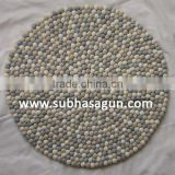 Soft Colors Handmade Felt Ball Mat Carpets for Prayers