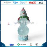 Customized Cute Polyresin Snowman Christmas Glass Snow Water Ball Decoration Resin Unique Shape Snowman Snow Globe