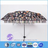 Custom made art design digital printed sun umbrella