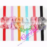 Yiwu Codial Factory Price High Quality Beautiful Fashion Stripe Ribbon Bows For Hair Decoration