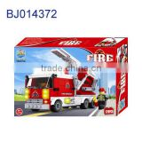 Intelligent 3d puzzle kid diy toy aerial ladder fire truck