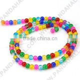 "Mixed 4mm Round Crackle Glass Beads Strands, Dyed, about 105pcs/strand, 16""(X-GGM001)"