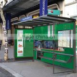 High Quality Modern Aluminum & Stainless Steel Bus Stop Shelter in Good Design for Outdoor Advertising