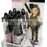factory custom counter top good sale makeup stand/shop shelf display cosmetic/acrylic display rack