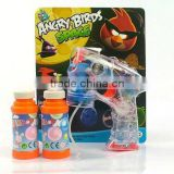 Transparent space cartoon bird 4 led light flashing bubble gun toys with music & 2 bubble liquid CB1801516