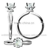 Jewelry CAD 3D Bridal Ring Designing
