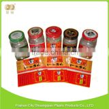 Latest new model brilliant quality adhesive sticker Transparent pet plastic shrink label film