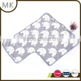 Printed plush fabric elephant design with white sherpa lining baby blanket