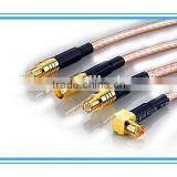 competitive price gold plated usb pigtails with mcx female right angle to mcx female straight connetor for cable rg 178 rg316